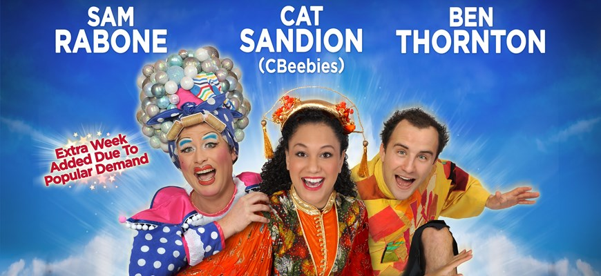 Cbeebies Cat Sandion jumps on board the magic carpet this christmas