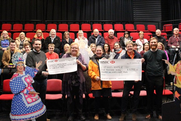 Donations collected during the festive period at the Lichfield Garrick raise over £11500