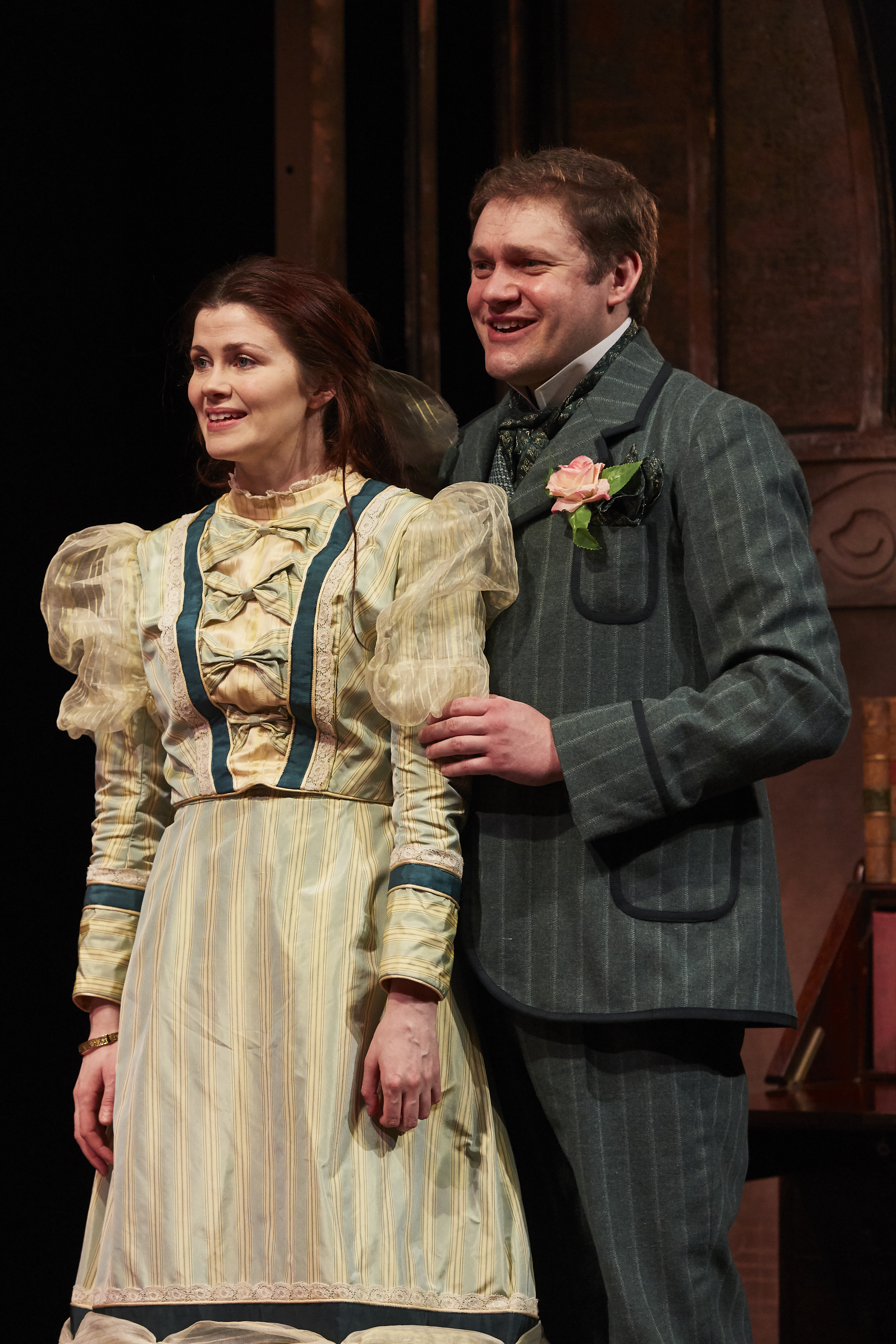 Louise Coulthard as Cecily & Thomas Howes as Algernon in THE IMPORTANCE OF BEING EARNEST, credit The Other Richard