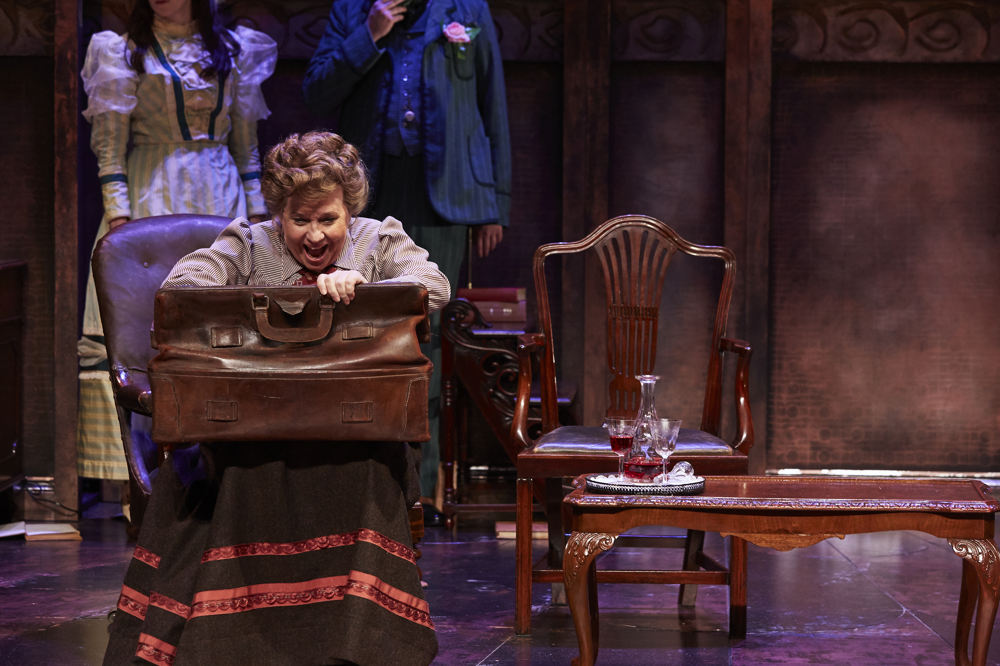 Susan Penhaligon as Miss Prism in THE IMPORTANCE OF BEING EARNEST, credit The Other Richard (2)